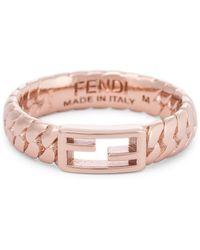 Fendi Ring FF aus Messing - Pink