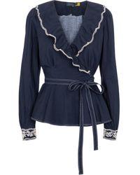 Polo Ralph Lauren Wickel-Top aus Baumwolle - Blau