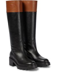 Tod's Leather Boots - Black