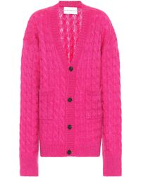 Matthew Adams Dolan Oversized Mohair-blend Cardigan - Pink
