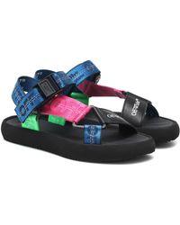 Off-White c/o Virgil Abloh 25mm Trek Nylon & Faux Leather Sandals - Multicolor