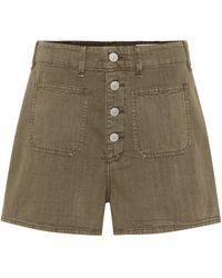 Rag & Bone Military High-rise Cotton Shorts - Multicolour
