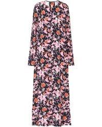 Marni Abstract Camouflage Print Dress - Pink