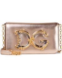 Dolce & Gabbana Schultertasche DG Girls Small - Mettallic