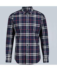 Burberry Hemd aus Baumwollpopelin mit Karomuster - Mehrfarbig