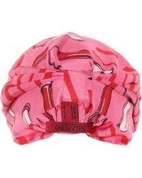 Valentino - Printed Silk-satin Turban - Lyst