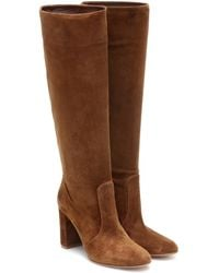Gianvito Rossi Slouch 85 Suede Knee-high Boots - Brown