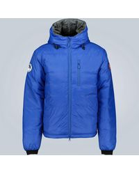 Canada Goose Lodge Hoody Down-filled Jacket - Blue