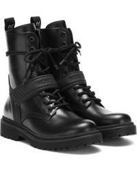 Moncler Calypso Leather Ankle Boots - Black