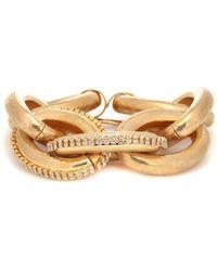 Marni Crystal-embellished Chain-link Bracelet - Metallic