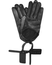 Off-White c/o Virgil Abloh Leather Gloves - Black