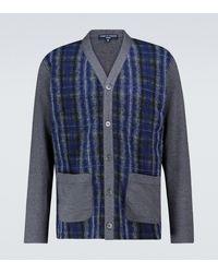 Comme des Garçons Cotton-blend Checked Cardigan - Blue