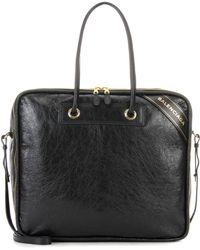 Balenciaga - Blanket Square M Leather Tote - Lyst