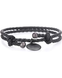 Bottega Veneta - Intrecciato Leather Bracelet - Lyst