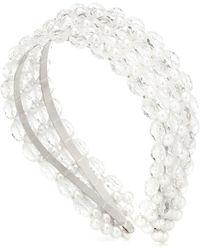 Shrimps Diadema Shelly con perlas transparentes - Blanco