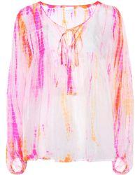 Anna Kosturova Top aus Seide - Pink