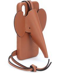 Loewe Hülle für iPhone X/XS aus Leder - Mehrfarbig