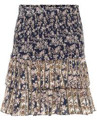 Étoile Isabel Marant Minifalda Naomi de algodón floral - Azul