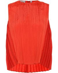 Vince - Sleeveless Pleated Top - Lyst