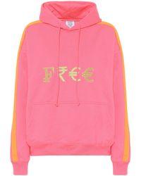 Vetements Bedruckter Hoodie aus Jersey - Pink