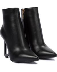 Dolce & Gabbana Bottines Lori en cuir - Noir