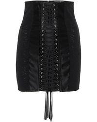 Dolce & Gabbana Minirock aus Satin - Schwarz