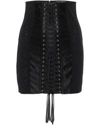 Dolce & Gabbana Minigonna in raso stretch - Nero