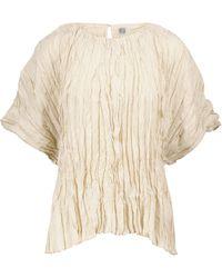 Totême Habutai-silk Top - Natural