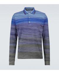 Missoni Polo à manches longues en coton - Bleu
