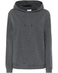 Brunello Cucinelli Sweat-shirt à capuche en coton stretch - Gris
