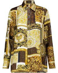 Versace Barocco Printed Silk Twill Shirt - Multicolour