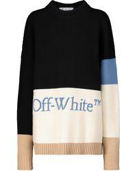 Off-White c/o Virgil Abloh Logo Wool Sweater - Black