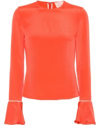 ROKSANDA - Saba Silk Blouse With Ruffled Cuffs - Lyst