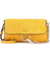 Chloé - Faye Mini Leather Wallet Bag - Lyst