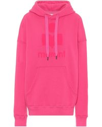Étoile Isabel Marant Mansel Oversized Cotton-blend Hoodie - Pink