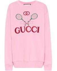 Gucci Sweatshirt aus Baumwolle - Pink