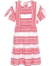 Velvet - Striped Cotton Dress - Lyst