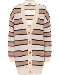 Acne Studios Striped Cardigan old Pink/multi
