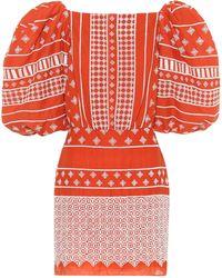 Johanna Ortiz Himalayas Embroidered Cotton Voile Mini Dress