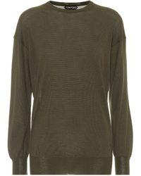 Tom Ford Pullover aus Kaschmir und Seide - Grün