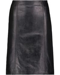 Stand Studio Maci Leather Midi Skirt - Black