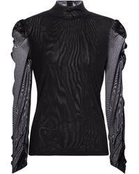 Diane von Furstenberg Top Remy de nylon - Negro