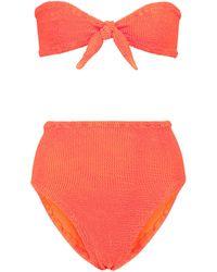 Hunza G Exclusivo en Mytheresa - bikini Hayley - Naranja