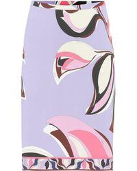 Emilio Pucci Printed Jersey Skirt - Multicolor