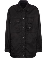 Prada Jacke aus Re-Nylon - Schwarz