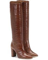 Paris Texas Stivali in pelle stampata - Marrone