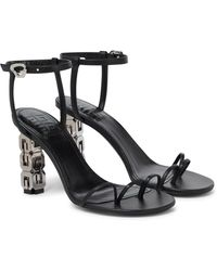 Givenchy Sandalen 4G aus Leder - Schwarz