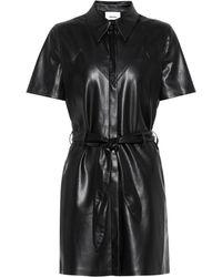 Nanushka Roberta Faux Leather Minidress - Black