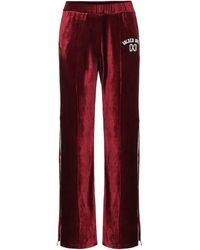 Golden Goose Deluxe Brand Kelly High-rise Velvet Trackpants - Red