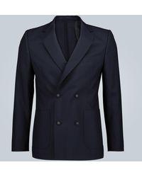 Officine Generale Leon Double-breasted Wool Blazer - Blue